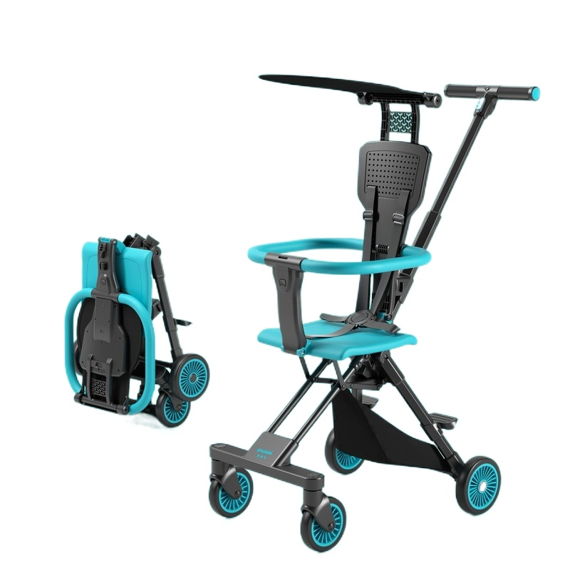 Super Light Two-way Baby Cart Small Pocket Umbrella Car Lightweight Folding Trolley