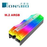 Jonsbo disipador de calor de aluminio M.2 de refrigeración refrigerador disipador de calor térmico almohadillas para NGFF NVME PCIE 2280 GB SSD disco duro