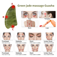 Newest Hand Made Gua Sha Board Anti Aging Olive Green Facial Body Massage Spa Acupuncture Tool Natural Relaxing Healing Stone 2