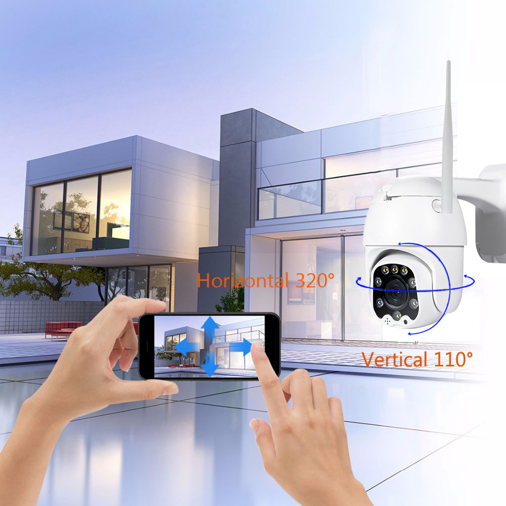 Image 4 - 2MP 3MP 5MP Wireless PTZ Speed Dome CCTV Security  IP Camera  4X zoom Outdoor ONVIF Two Way Audio P2P Camera WIFI Camhi-in Surveillance Cameras from Security & Protection