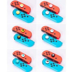 Image 2 - Silikonowy uchwyt na kciuki Cap analogowy joystick pokrywy skrzynka dla Zelda Mario przełącznik do nintendo NS Lite JoyCon kontroler Joy Con Joypad
