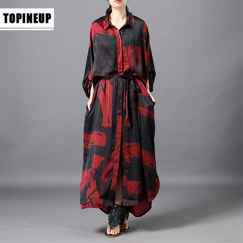 Style de piste de luxe européen mode faux deux pièces robe en soie florale, robe d'été élégante dames robe