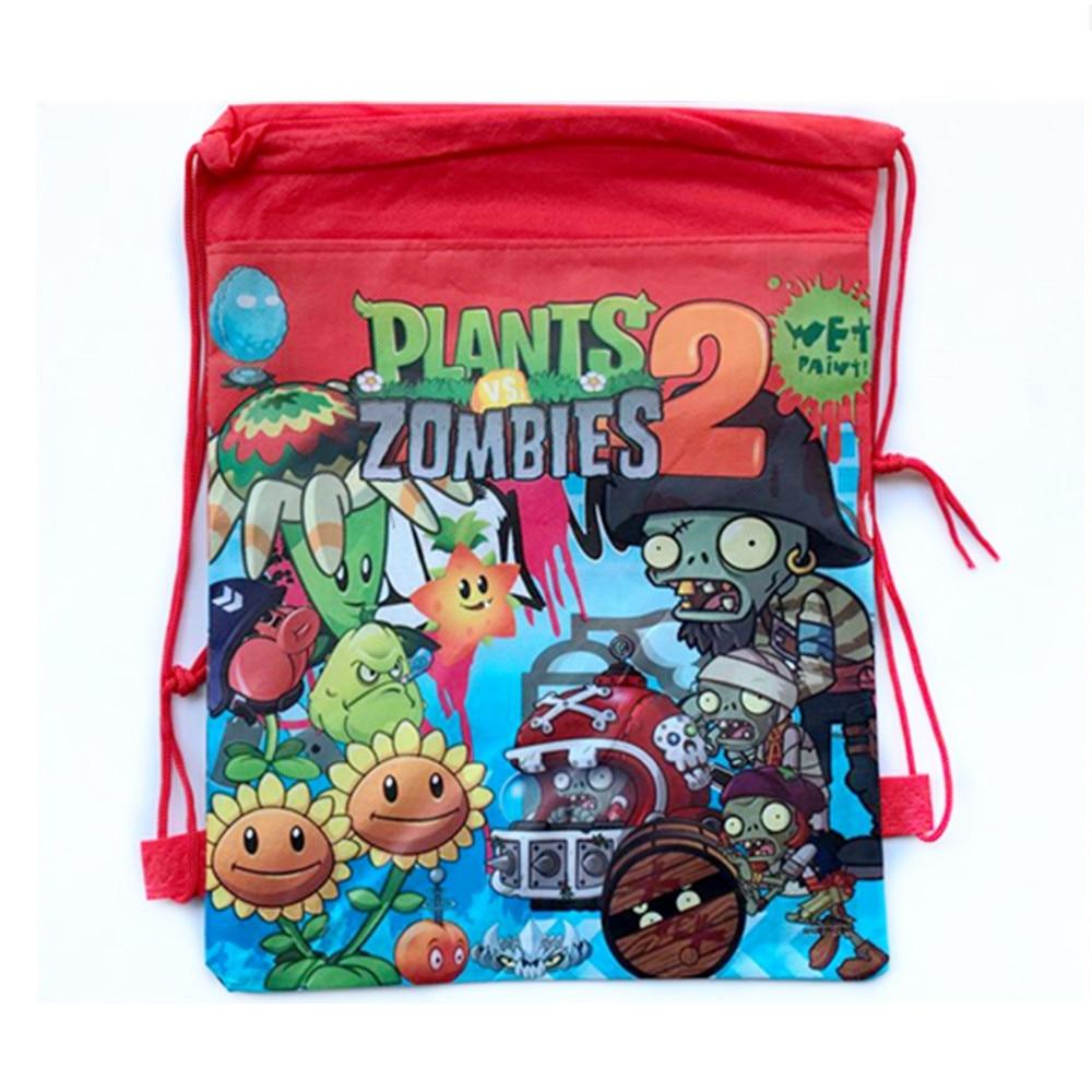 1 pcs Cartoon Printing Bag Plants vs Zombies Theme Nylon Shopping Receive Bag Kid Gift Toy(China)