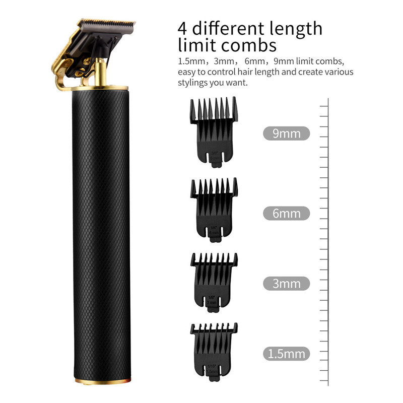 Powerful T9 Hair Trimmer Professional Electric Hair Clipper Quick Charge Razor Sideburns Edge Outlines Barber Haircut Finishing