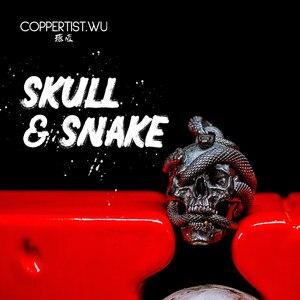 COPPERTIST.WU дизайнерское ожерелье ручной работы в античном стиле S925, кулон в виде черепа, змея, ювелирные изделия в стиле готик-панк, Женское и му...