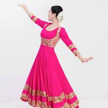 New India Sarees For Woman India Dancing Performance Lenha Costume Woman Beautiful Shoot Sets