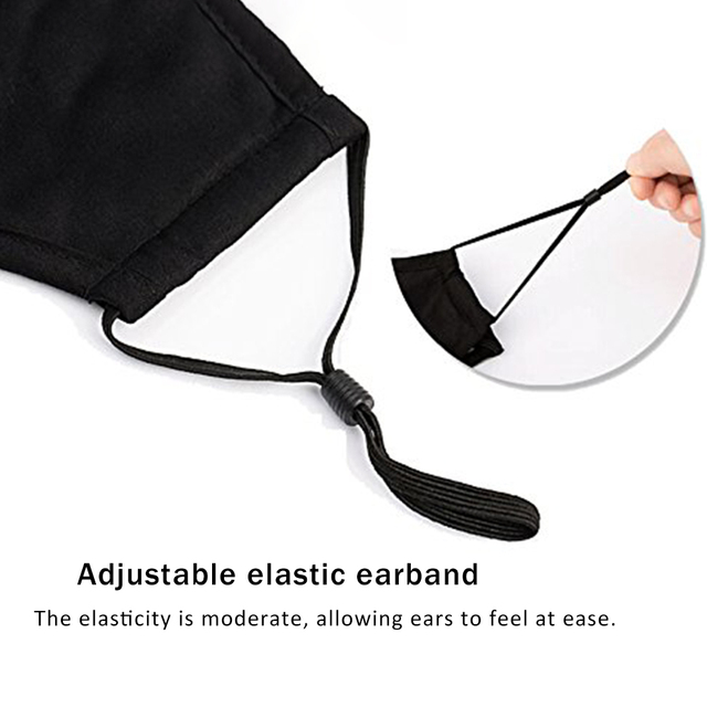 Hot Black Cotton Mask Mouth Face Mask Anti PM2.5 Dust Mask Activated Carbon Filter Korean Style Mask Fabric Face Mask Protect 4