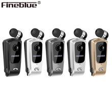 Fineblue F920 Draadloze Bluetooth Hals Clip Telescopische Business Oortelefoon Trilalarm Dragen Stereo Sport Headset Mic