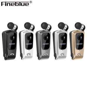 Image 1 - Fineblue F920 Draadloze Bluetooth Hals Clip Telescopische Business Oortelefoon Trilalarm Dragen Stereo Sport Headset Mic