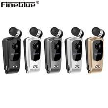 Fineblue f920 clipe de pescoço sem fio bluetooth telescópico negócios fone de ouvido vibração alerta usar estéreo esporte auriculares mic
