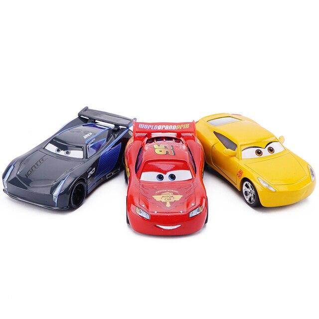 Disney Pixar Cars 3 Saetta McQueen Jackson Tempesta Mater 1:55 Diecast In Metallo In Lega Modello di Auto Giocattolo Auto Regalo Di Natale Per Bambini Ragazzi 4
