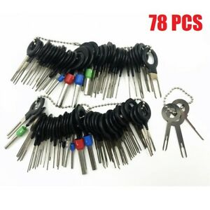78pcs Wire Terminal Removal Tool Car Electrical Wiring Crimp Connector Pin Kit Stylus Wire Crimp Pin Extractor Puller