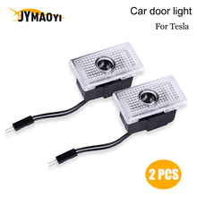JYMAOYI 2 pcs LED Car Door light Projection lamp Welcome Light Courtesy Ambient Warning light For Tesla MODEL 3 MODEL S MODEL X sencart 3 led rgb light motorcycle car decoration handle lamp silver black 3 x lr44 2 pcs