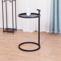 European style Simple Small Side Table Iron Round Corner Table Wooden / Iron Desktop Living Room Table Coffee Table Tea Desk