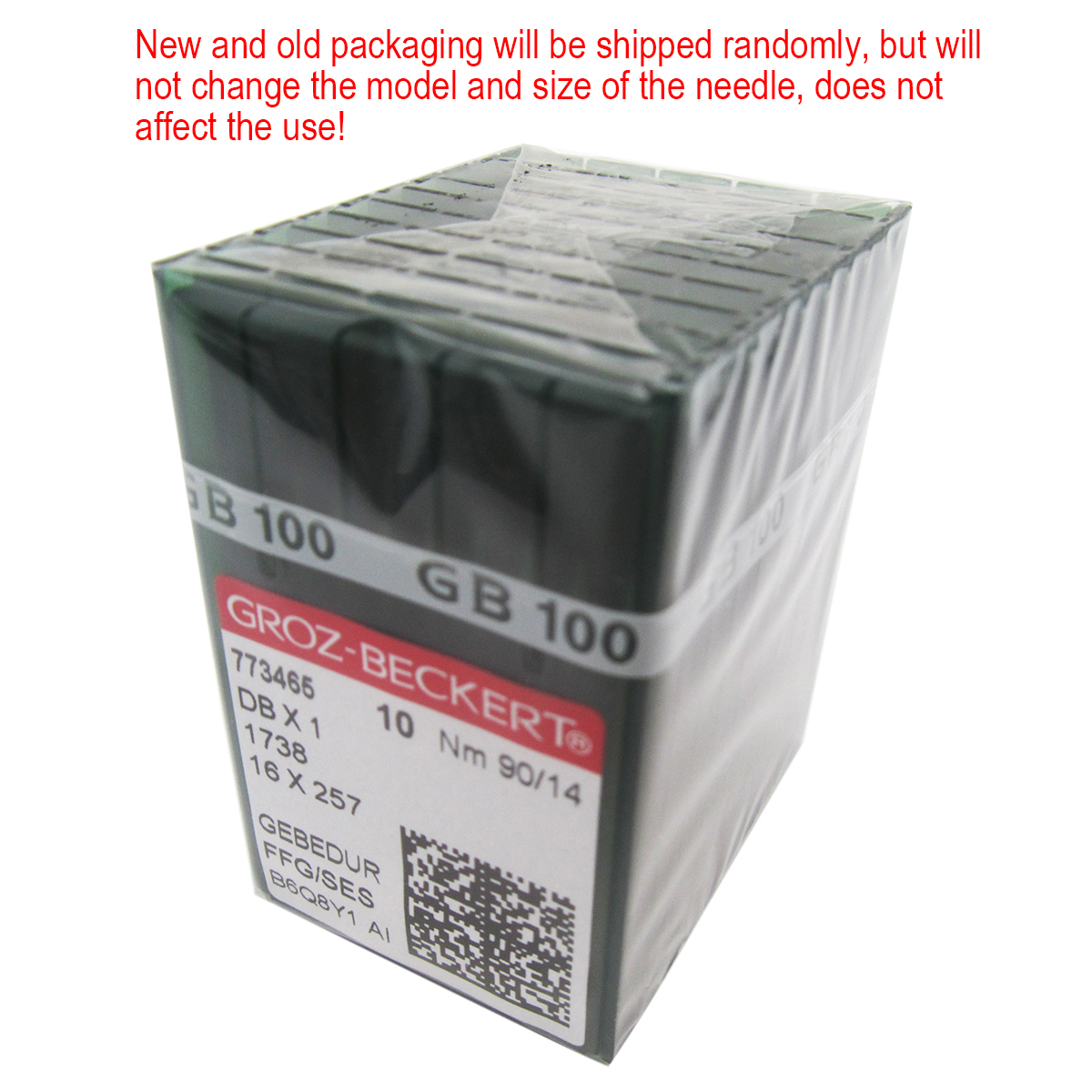GROZ BECKERT INDUSTRIAL SEWING MACHINE NEEDLES DBx1 16x257  1738