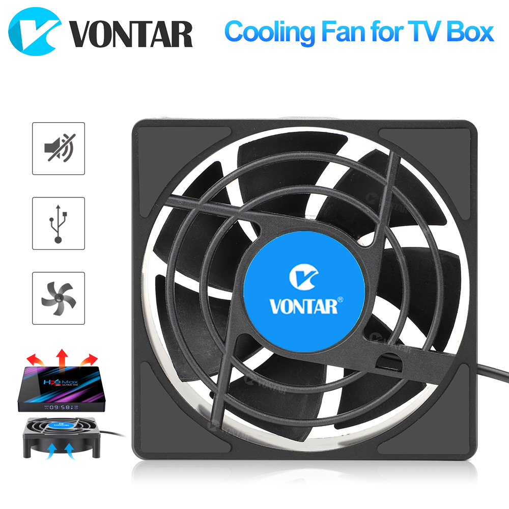 VONTAR C1 Cooling Fan For Android TV Box Set Top Box Wireless Silent Quiet Cooler DC 5V USB Power Radiator Mini Fan 80x80x25mm