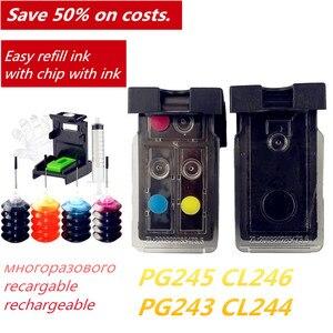 Image 2 - PG243 CL244 Refillable דיו החלפה עבור Canon Pg 243 Cl 244 מדפסת PIXMA MG2924 MG2420 MG2520 TS3100 MX492 MX496 MG2560 2460