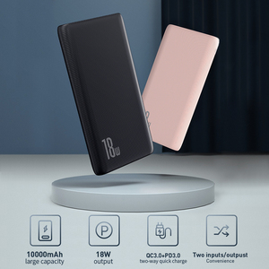 Image 2 - Baseus Quick Charge 3.0 10000mAh Power Bank USB Type C PD 10000 Powerbank Portable External Battery Charger For Xiaomi Mi iPhone