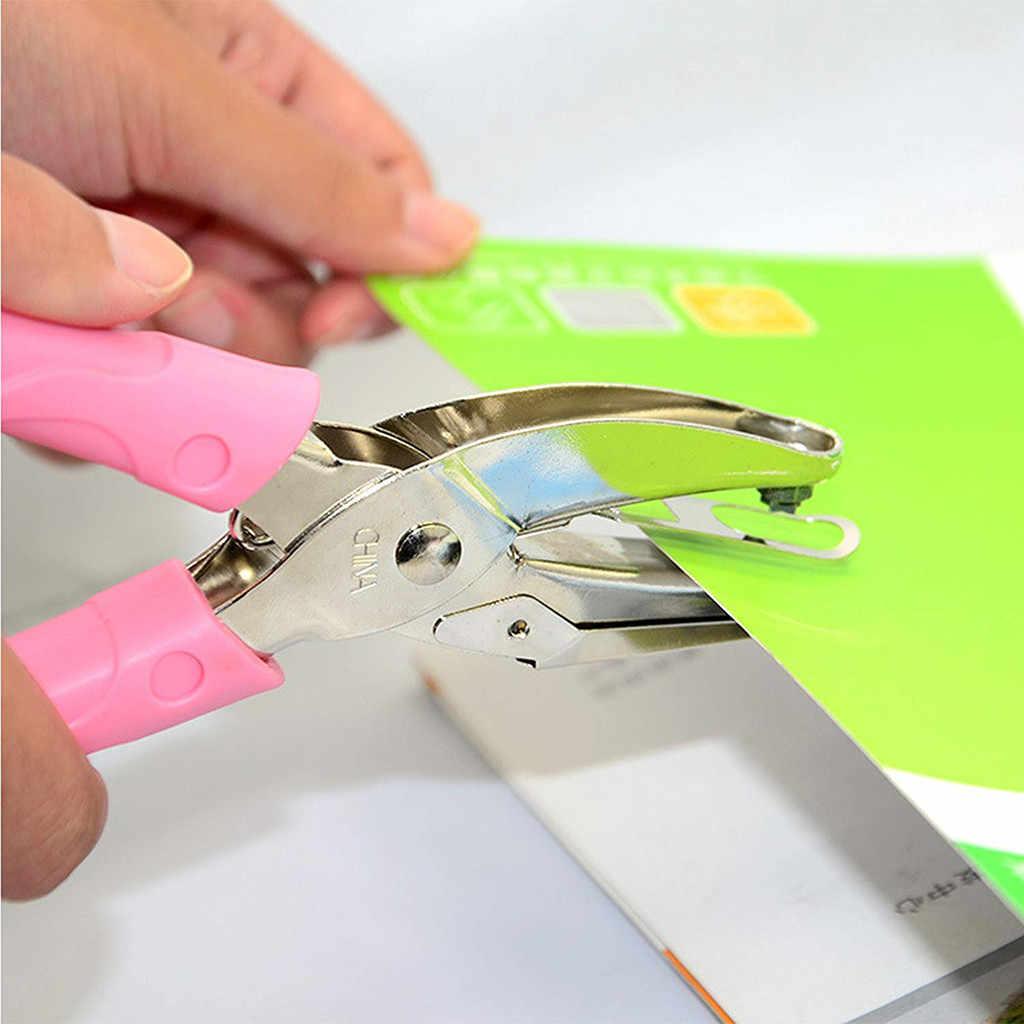 4 formes petit Mini Miniature ronde en métal simple main perforateur de carte de visite