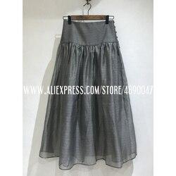 2020 Primavera Verano retro de malla de alta cintura falda de las mujeres pettiskirt femenina de alta calidad de las señoras falda 2 piezas Fluffy falda