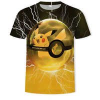 Round neck casual children Pokemon t shirt men's anime costume 3d print cool boy girl short-sleeved t shirts camiseta masculina