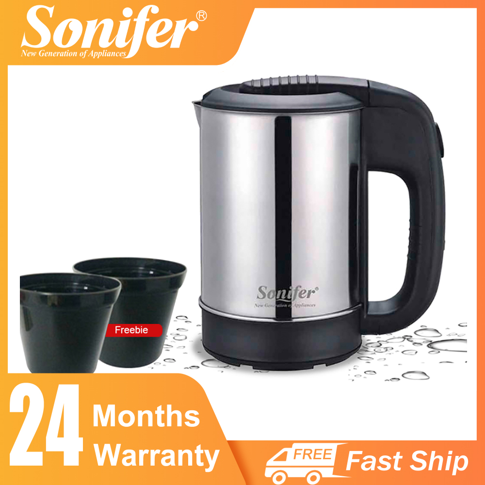 0.5L Mini Electric Kettle Stainless Steel 1000W Portable Travel Water Boiler Pot Sonifer