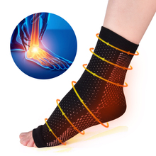 1 Pair Anti Fatigue Ankle Heels Compression Sleeves Foot Sup
