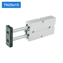 TN20*15-S Free Shipping 20mm Bore 15mm Stroke Compact Air Cylinders TN20X15-S Dual Action Air Pneumatic Cylinder