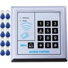 RFID бесконтактная дверная система контроля доступа с клавиатурой 125 кГц EM ID карта контроля доступа Лер+ 10 шт. rfid тег