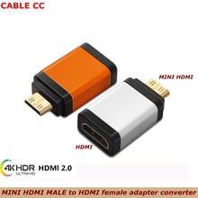 Лучшее качество мини HDMI папа к HDMI Женский адаптер конвертер 1080 P 2K 4K 60hz для мини ПК HDTV HD камеры