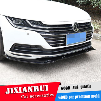 For CC Body kit spoiler 2019- For Volkswagen CC ABS Rear lip rear spoiler front Bumper Diffuser Bumpers Protector