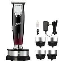 Máquina de cortar cabelo de precisão elétrica cortador de aço profissional recarregável aparador de cabelo para homens barbeiro máquina de corte de cabelo de barbear