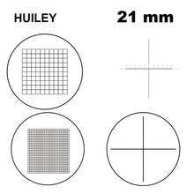 21mm Diameter Microscope Optical Micrometer Eyepiece Reticle Ocular Scale Calibration Cross Ruler Grid Scale for Microscope 0 01mm microscope stage micrometer cross dot 0 01mm microscope calibration slide ruler