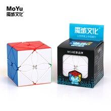 Moyu Cubing класс Meilong кленовые листья Skewb магический куб без наклеек Mofang Jiaoshi Meilong Polaris волшебный куб без наклеек