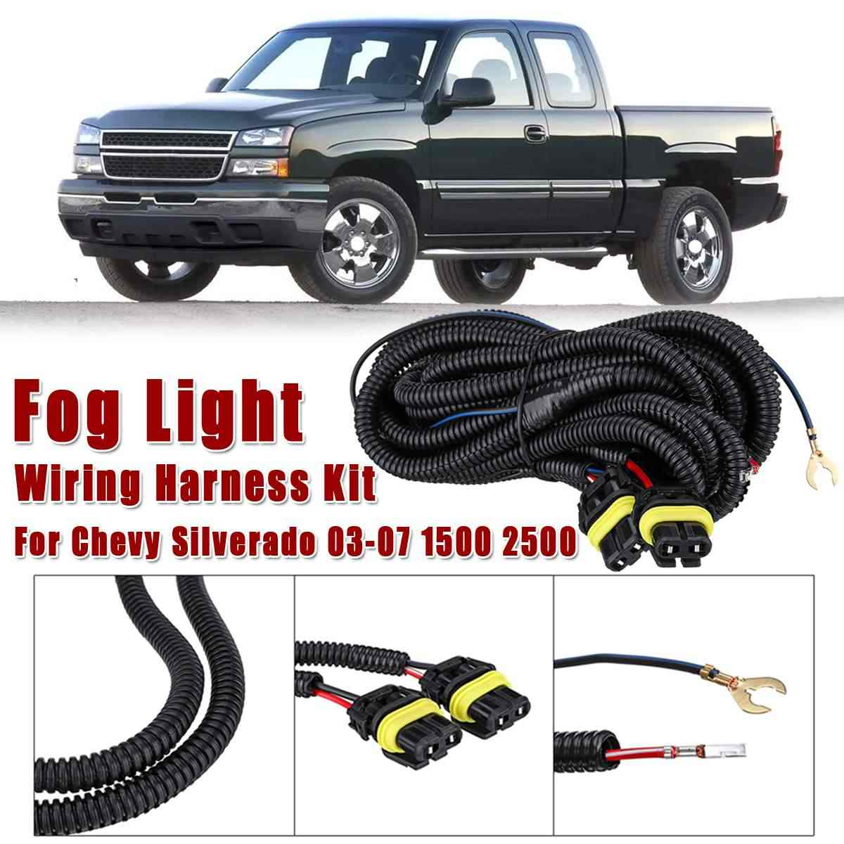 Fog Light Wiring Harness Socket Wire Connect Kit For Chevy Silverado 2003  2004 2005 2006 2007 1500 2500 Car Light Assembly 1PCS|Car Light Assembly| -  AliExpressAliExpress