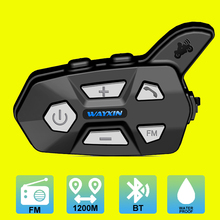 Motorcycle Helmet Intercom Bluetooth Interphone Headset Waterproof Wireless Moto FM