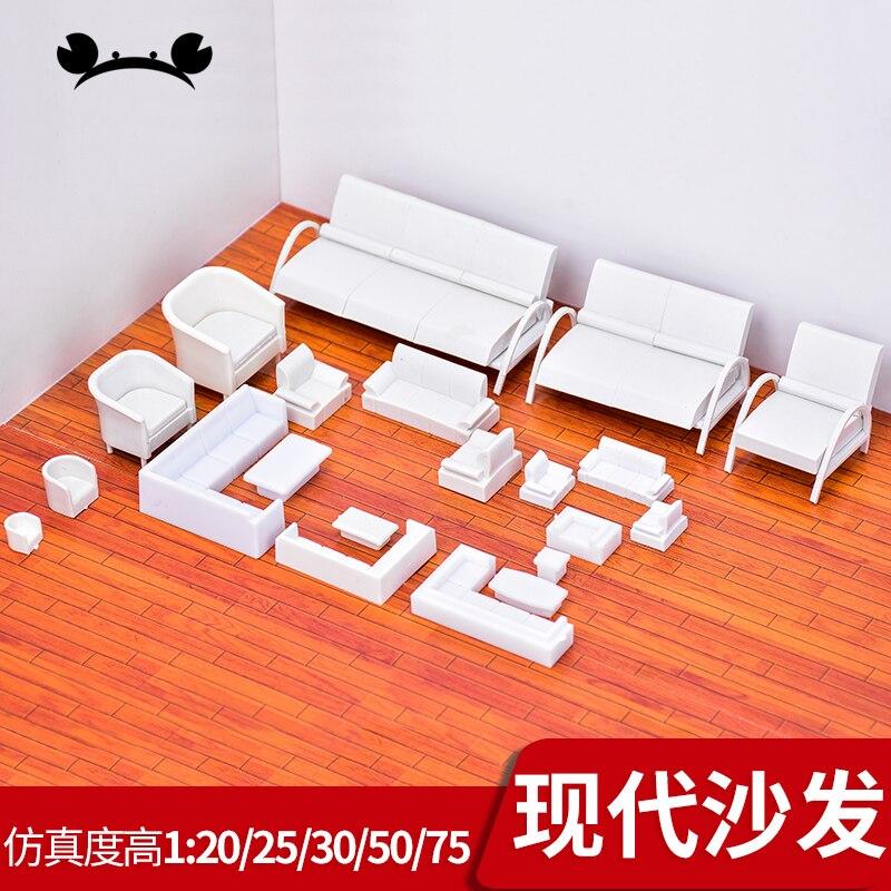 Architectural Layout Design Model Sofa Furniture Model Set Toy 1/20 1/25 1/30 1:50 1/75 Scale For Interior Landscape