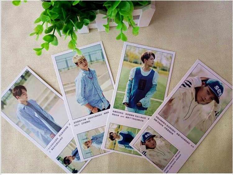 Kpop estrella popular álbum Ikon colectiva en la subsección 586 Uds letras K-pop LOMO regalo souvenir de k pop láser cubierta