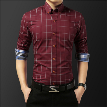Plaid shirt male trend spring and autumn harbor wind jacket men's long sleeve loose student wild shirt casual trend