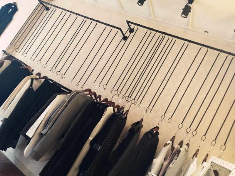 Stojak na wieszaki sklep odzieżowy żelazna sztuka dla mężczyzn i kobiet półki wystawowe pierścień wiszący wieszak na ubrania wieszak ścienny wieszaki na ścianę