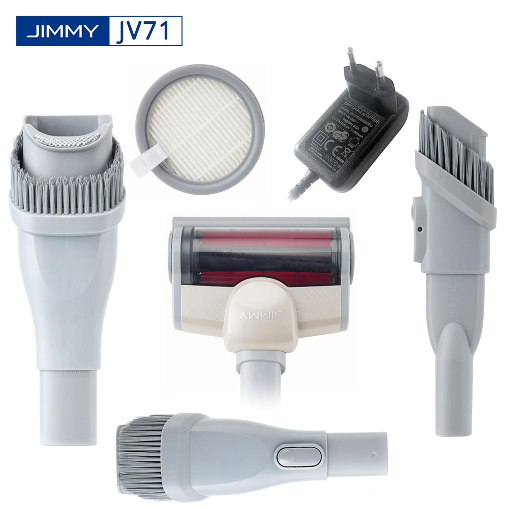 Original JIMMY JV71 Vacuum Cleaner Accessory Accessories Adaptor HEPA Filter Electric Mite Cleaning Brush Ceiling/Crevice Tool