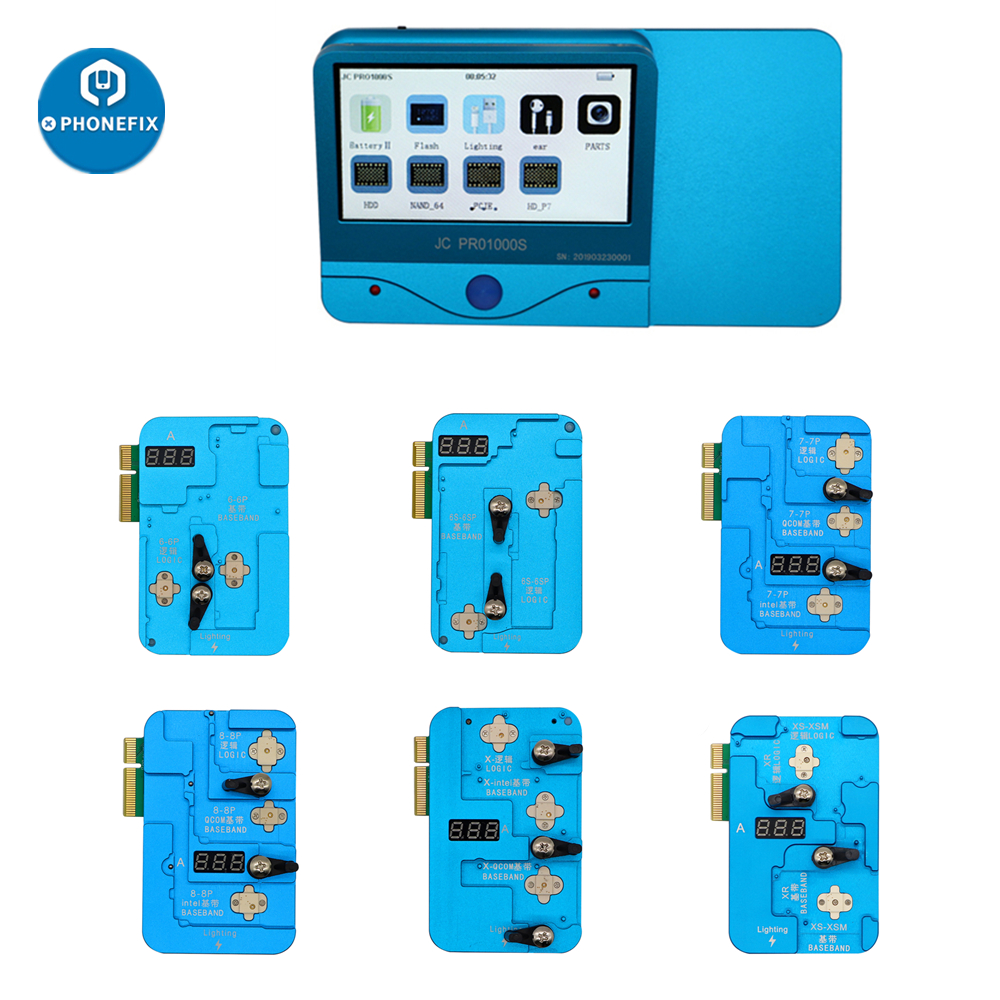 JC PRO1000S Logic Baseband EEPROM IC Chip Programmer EEPROM IC Read Write Repair Tool For IPhone 6 6S 7 8 Plus X XR XS Max