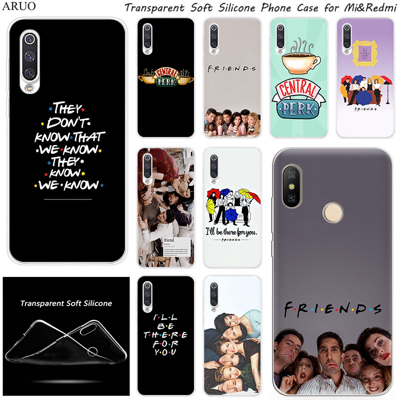 Classic Friends TV Series Silicone Phone Case For Xiaomi 10 9 SE 9T A3 A2 Lite Redmi K20 K30 7A 6A Y3 Note 9 S 6 7 Pro 8 5 Cover