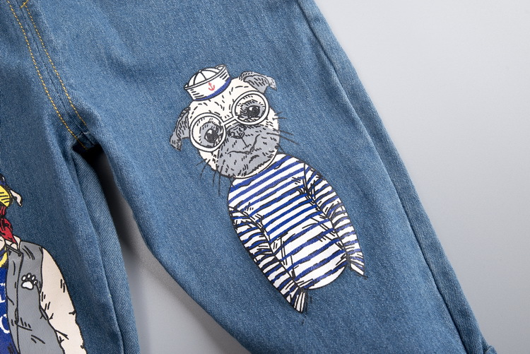 DIIMUU 1PC Infant Kids Boy Clothes Jeans Trousers Children Baby Boys Clothing Casual Bottom Denim Cotton Light Washed Pants 6