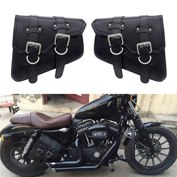 Motorcycle Waterproof Bag Motorcycle Saddle Bags Pu Leather Motorbike Side Tool Bag out door Luggage For Sportster XL 883 1200 цена 2017