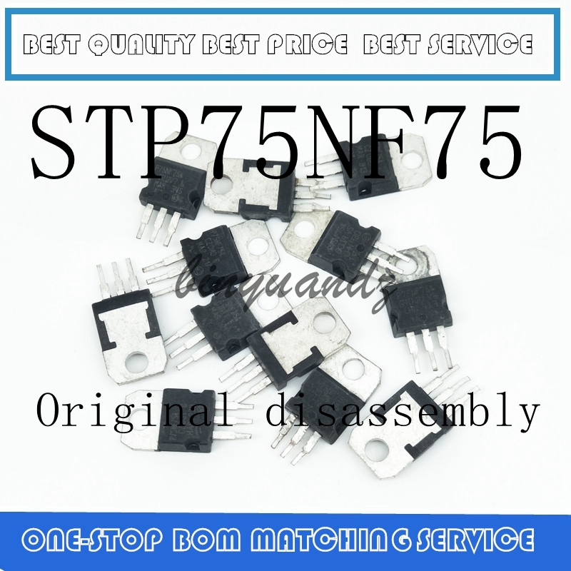 10PCS/LOT  STP75NF75 P75NF75 TO-220 TO220 75NF75 Original Disassembly
