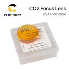 """II VI cvd znse lente de foco diâmetro. 38.1mm fl 127 190.5mm 5 """"7.5"""" para hanstrons trumpf bystronics co2 máquina de corte a laser"""