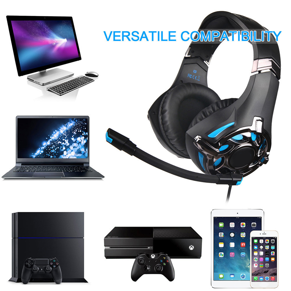 SA-822 Gaming Headset High Sound Quality Headphones 3.5mm with Microphone for PC Laptop Computer Gaming LHB99 image