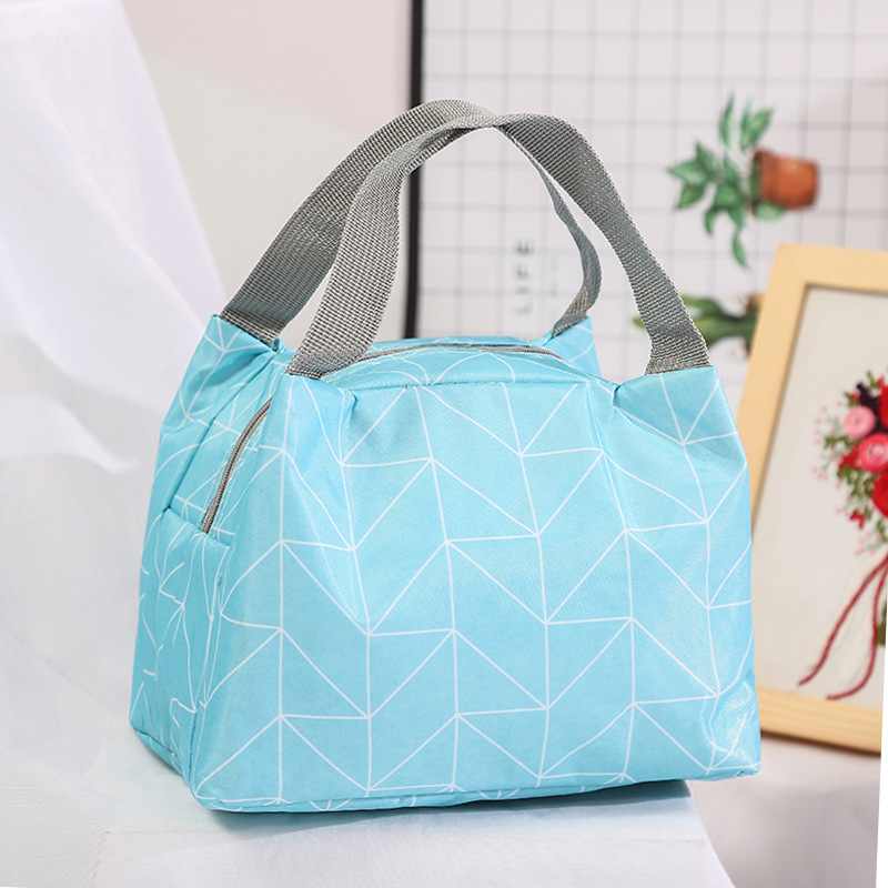 Large Capacity Waterproof Lunch Bag Forwomen Zipper Foldable Portable Outdoor Picnic Box Handbag Kid Food Insulated Cooler Bags