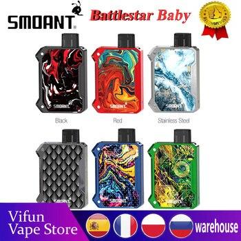 Smoant Battlestar Baby Pod Kit 750mAh battery wi/ 2ml Pod LED Indicator 0.6ohm Mesh & 1.2ohm Ni-80 Coil Ecig Vape Kit VS Pasito